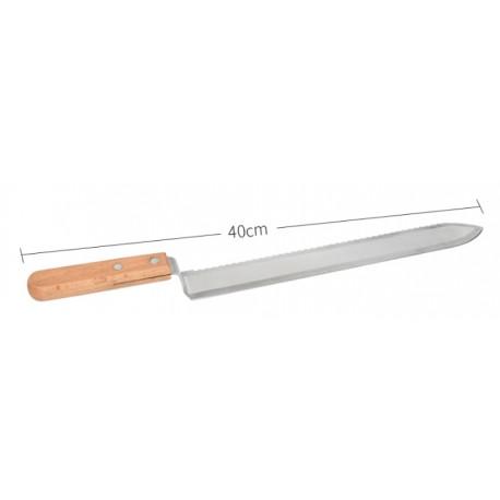 Cuchillo desoperculado Miel, 40 ctms, hoja de corte y sierra