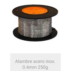 Alambre Acero inoxidable 0.4  mm. 250 grms.