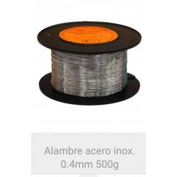 Alambre Acero inoxidable 0.4  mm. 500  grms.